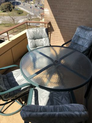Balcony table and 4 chairs for Sale in Washington, DC