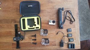 Go Pro Hero 4 silver and accessories for Sale in Fort Worth, TX