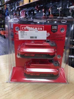 CRAFTSMAN CMCB202-2 20 Volt Max 2Ah Lithium Power Tool 2pk for Sale in Lynn, MA