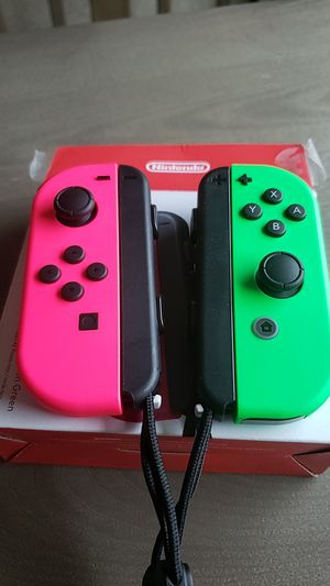 Nintendo switch joy cons pink green for Sale in Fall River, MA