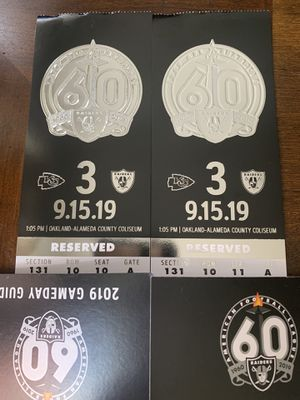 Raiders 2019 Home Games for Sale in Roseville, CA