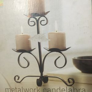 Martha Stewart 3-candle Metalwork Candelabra; Discontinued for Sale in Worcester, MA