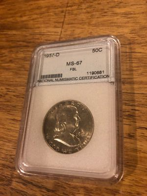 1957-D Graded Solver Franklin 1/2 Dollar for Sale in Kirksville, MO