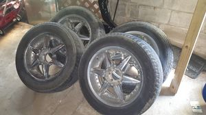 """20"""" 6 lug rims and tires for Sale in Wichita, KS"""