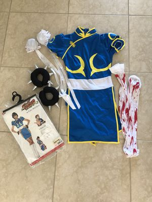 ChunLi Costume Halloween Cosplay - size small for Sale in St. Petersburg, FL
