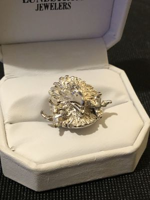 Look at all pictures. Vintage solid silver American eagle face design ring. Very detailed. Size 6 for Sale in Vacaville, CA
