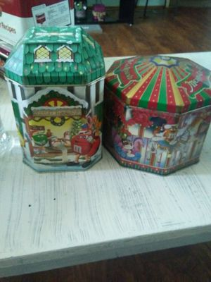Christmas M&M tin can set collection for Sale in El Mirage, AZ
