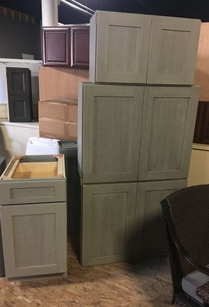 Gray shaker cabinets never used for Sale in West Warwick, RI