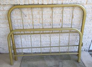 Antique Gold Metal Bed Frame - Full Size for Sale in Berwick, PA
