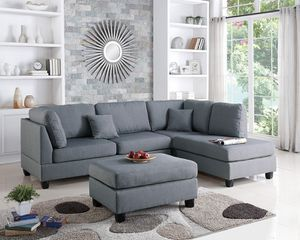 Sectional sofa and ottoman. SPECIAL OFFER. $53 DOWN PAYMENT for Sale in Orlando, FL