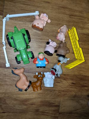 Toy farm lot animals farmer tractor for Sale in Mesa, AZ