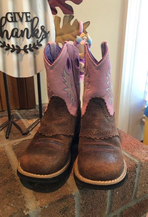 Ariat Boots Girls Fatbaby Pink 12C for Sale in Angier, NC