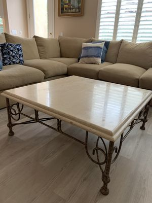 Marble Coffee table with matching end table for Sale in Trabuco Canyon, CA