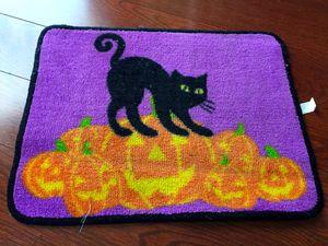 New! Halloween Decoration Black Cat Door Mat for Sale in Hollywood, FL