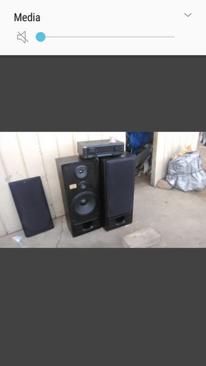 Home stereo receiver and speakers Sony receiver and 2 pioneer speakers for Sale in Denver, CO