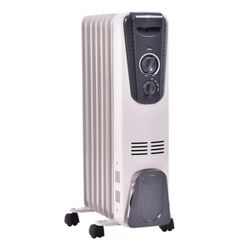 1500-Watt Electric Oil Filled Radiator Space Heater 5.7 Fin Thermostat Room Radiant Ep22611 for Sale in Montebello,  CA