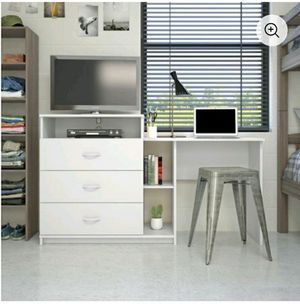2 in1 desk and TV stand white for Sale in Inman, SC