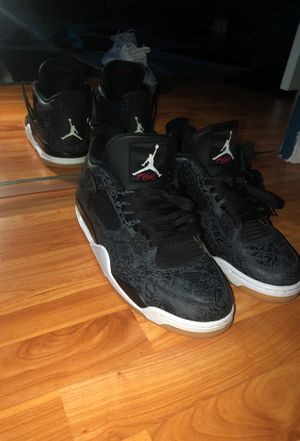 Jordan 4 Retro Laser Black Gum for Sale in Bonita, CA