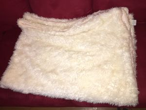 Faux fur throw blanket for Sale in Burlington, NC