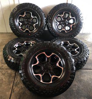 """2020 Jeep Wrangler Rubicon Wheels 17"""" Rims & Tires LT285/70/17 NEW for Sale in Santa Ana, CA"""