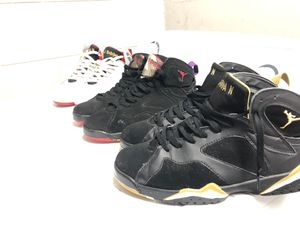 For all Jordan fans 3 pairs of 7s for sale all a 9 1/2 for Sale in Kissimmee, FL