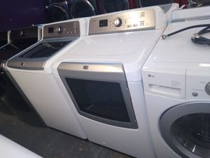 🌟maytag XL nice set of top loads large capacity washer and steam gas dryer for Sale in Houston, TX