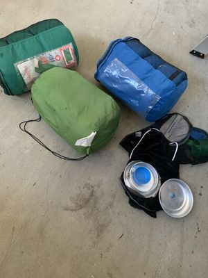Sleeping bags and mess kits for Sale in Los Angeles, CA
