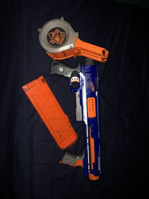 Nerf Rampage gun & 2 magazines for Sale in Queens, NY