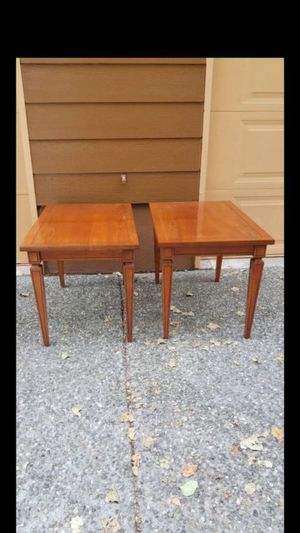 Set of two mid-century modern coffee table / end tables / nightstand, excellent condition solid wood prices for both for Sale in Everett, WA