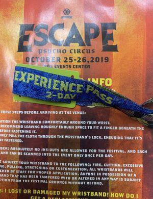 Escape ticket for Sale in Rancho Cucamonga, CA