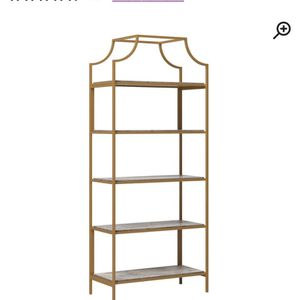 Metal Gold Bookcase for Sale in Elmont, NY