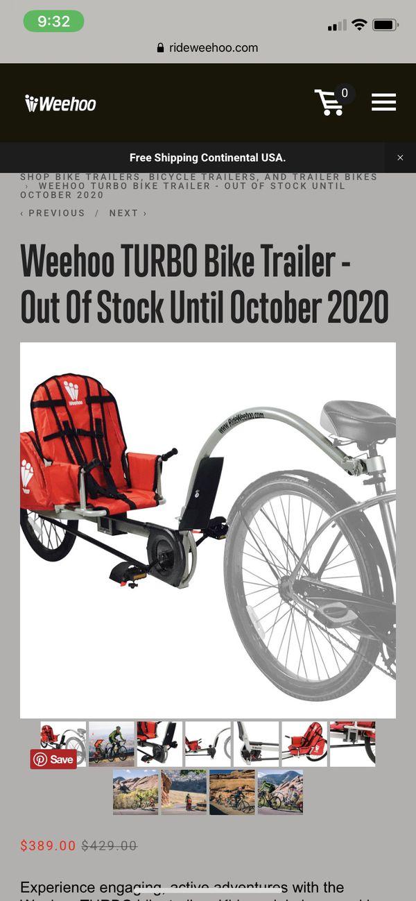 Weehoo kids bike trailer