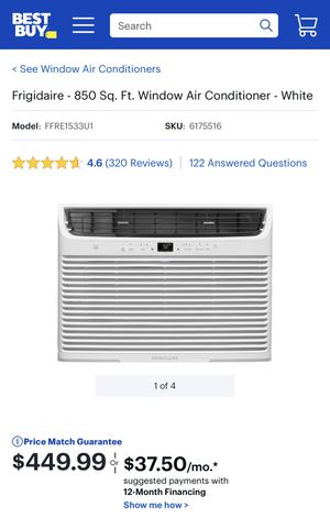 Frigidaire Window AC Unit - 15K BTU - Cools 850 Sq Ft for Sale in Chicago, IL