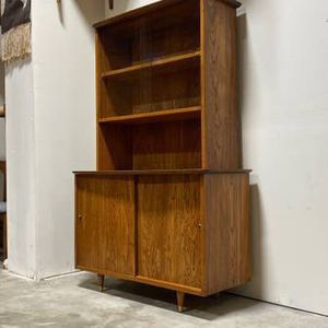 Mid Century Modern Credenza With Hutch Top for Sale in Tacoma, WA