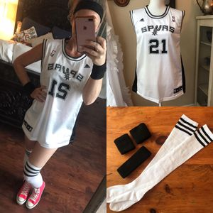 spurs tim duncan jersey costume for Sale in San Antonio, TX