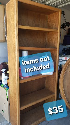 Solid wood bookshelve back flipped off for Sale in Gridley, CA