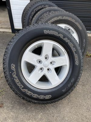 Wrangler jeep tires and wheels for Sale in Cumming, GA