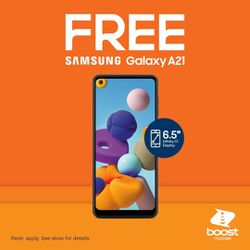 ‼️‼️SWITCH TO BOOST for 2 FREE Galaxy A21‼️‼️ for Sale in Fresno,  CA