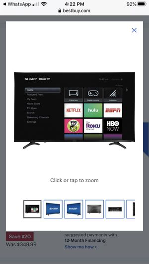 """BRAND NEW TV(box pack) Sharp -55"""" LED 2160pSmart 4K UHD with HDR Roku for Sale in Queens, NY"""
