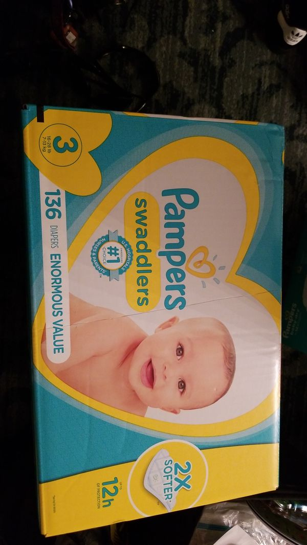 Pampers swaddlers size 3 diapers 136count