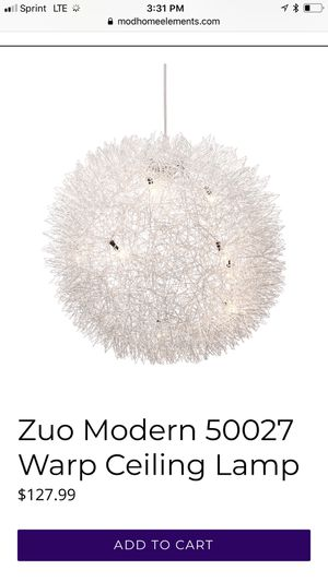 Zuo ceiling lamp for Sale in Lancaster, OH