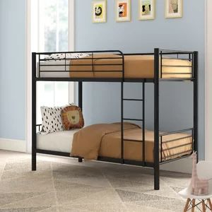 Metal bunk bed set w/ mattress for Sale in Del Valle, TX