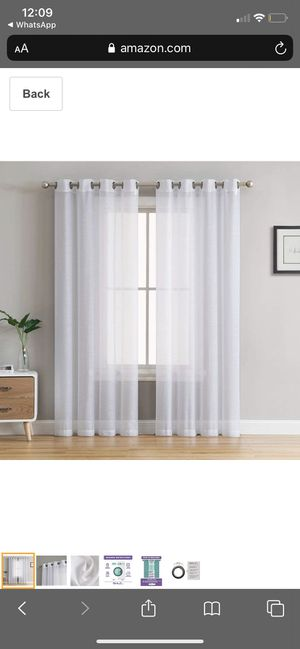 "LIKE NEW - 12 Panels | White Semi Sheer Curtains (54"" W x 90"" L) for Sale in Cockeysville, MD"