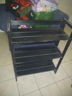 Small solid wood fold up shelf real wood real convenient for Sale in Tampa, FL