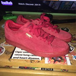 Red Puma Suede Classics for Sale in Knightdale,  NC
