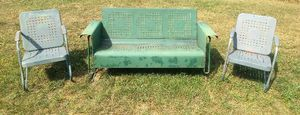 Vintage Metal Porch Glider set chairs for Sale in Bunker Hill, WV