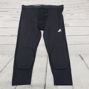 Adidas Pants Size 3XT Men's Techfit Compression Climalite Padded 3/4 Tights Leggings Black 75% Nylon 25% Spandex Made In Vietnam New With Tags for Sale in Los Angeles, CA