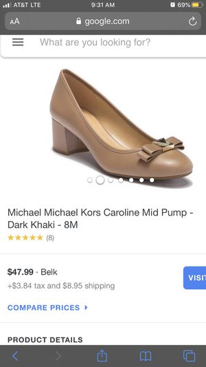 Michael kor shoes leather 8 for Sale in Clayton, NC