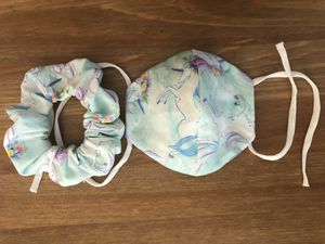 Unicorn children's face mask and scrunchie for Sale in Margate, FL