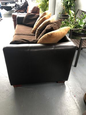 Brown, Queen Sofa Bed Couch for Sale in Coral Gables, FL